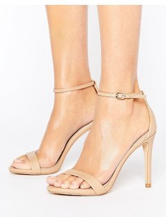 Steve Madden Stecy Nude Barely There Sandals - Beige