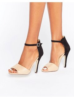Paper Dolls Colourblock Barely There Sandal - Beige