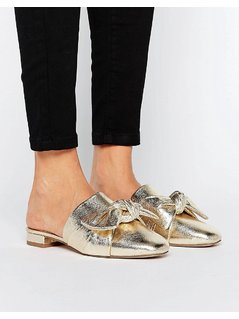 ASOS LINK UP Mule Ballet Flats - Gold