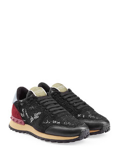 Normal rockstud sneakers with leather and lace gr it 41