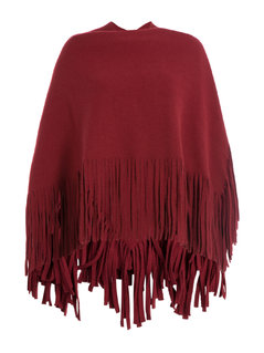 Normal wool cape with fringed trim gr one size