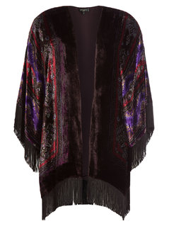 Velvet Cape with Fringe Gr. L