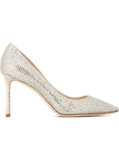 Jimmy Choo - Romy 85 Pumps - Women - Leather/Lurex/Polyamide - 39.5