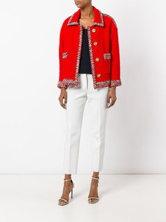 Chanel Vintage contrast trim boucle jacket