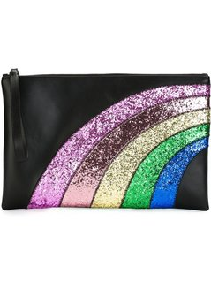 Normal red valentino glitter rainbow clutch