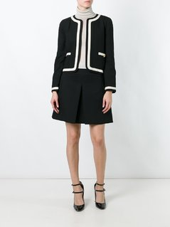 Chanel Vintage contrast stripe jacket