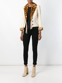 John Galliano Vintage Orylag fur trim jacket