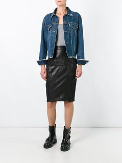 Jean Paul Gaultier Vintage leather panelled skirt