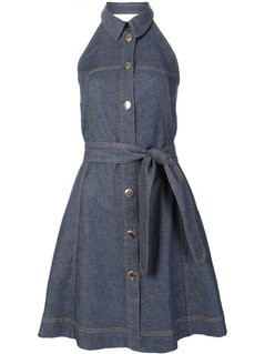 Normal boutique moschino backless denim dress