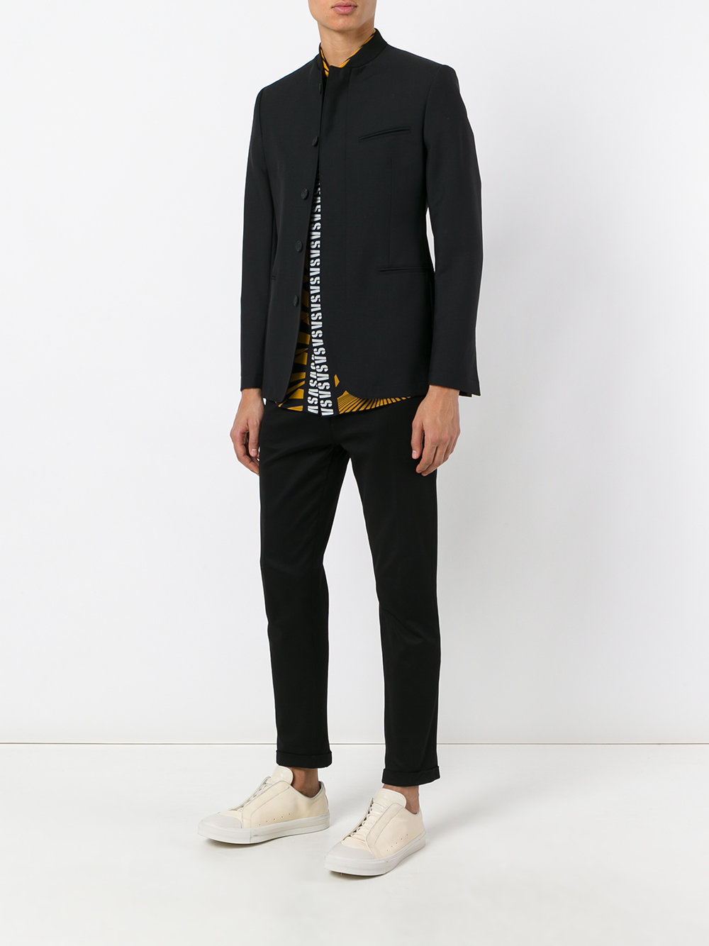 Kenzo fitted collarless blazer