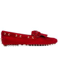 Car Shoe - Lace-Up Detail Loafers - Women - Leather/Suede/Rubber - 39