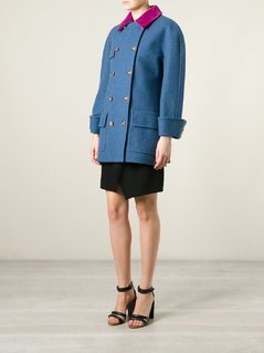 Chanel Vintage velvet collar coat