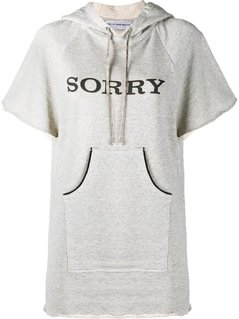 Walk Of Shame - Sorry Hooded Sweatshirt With Short Sleeves - Women - Cotton - 42