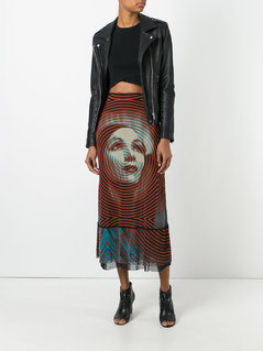 Jean Paul Gaultier Vintage sheer printed skirt