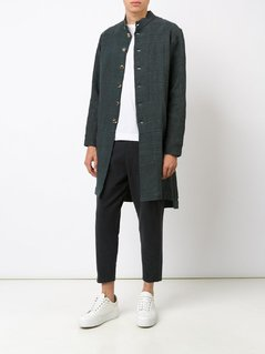 By Walid band collar buttoned coat