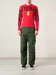 Walter Van Beirendonck Vintage lightening bolt sweater