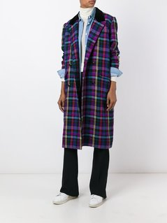 Christian Dior Vintage checked long coat