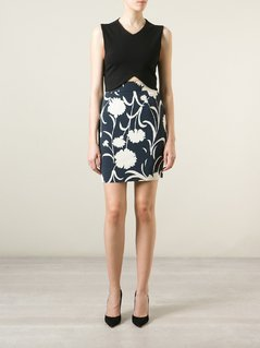 Moschino Vintage Floral Print Pencil Skirt