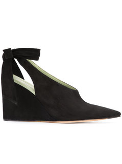 Derek Lam - Maude Closed Toe Wedge Pumps - Women - Leather/Suede - 39