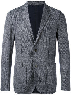 Paolo Pecora - Textured Patch Pocket Blazer - Men - Cotton/Linen/Flax/Polyamide - 52