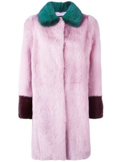 Liska Colour Block Mink Fur Coat