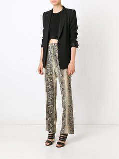 John Galliano Vintage snakeskin effect trousers