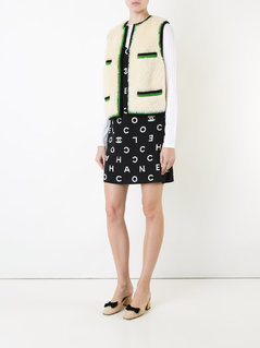Chanel Vintage CC logo sleeveless vest jacket