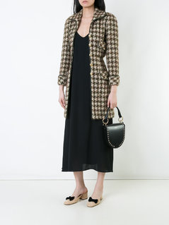 Chanel Vintage single breasted tweed coat