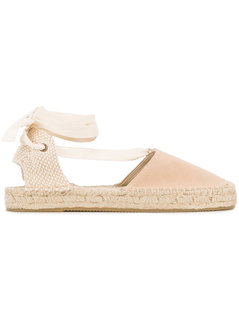 Soludos - Cream Suede Espadrilles - Women - Suede/Straw/Canvas/Rubber - 6