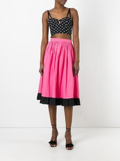 Yves Saint Laurent Vintage ruffle trim skirt