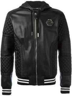 Philipp Plein - Now Stop Jacket - Men - Sheep Skin/Shearling/Polyamide/Viscose - XXL