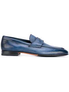 Santoni - Classic Loafers - Men - Leather/Rubber - 10.5