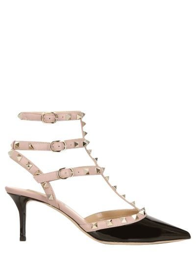 65MM ROCKSTUD PATENT LEATHER PUMPS