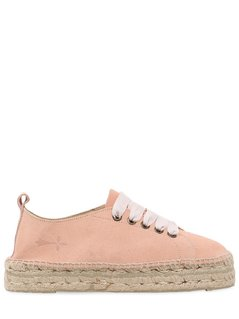 30MM SUEDE LACE UP ESPADRILLES