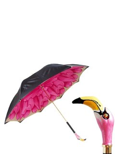 RESIN FLAMINGO PRINTED UMBRELLA