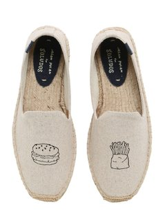 HAMBURGER EMBROIDERED COTTON ESPADRILLES