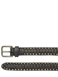 25MM STUDDED VINTAGE LEATHER BELT