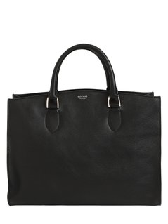 MEDIUM LEATHER TOP HANDLE BAG