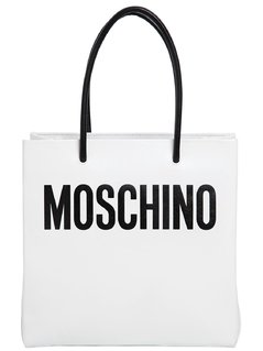 LOGO SHOPPING NAPPA LEATHER TOTE