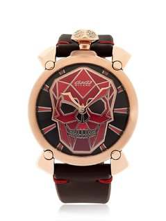 BIONIC SKULL ROSE GOLD ION PLATED WATCH