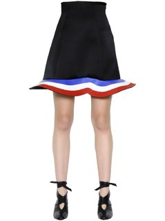 STRETCH WOOL&VISCOSE SCUBA SKIRT