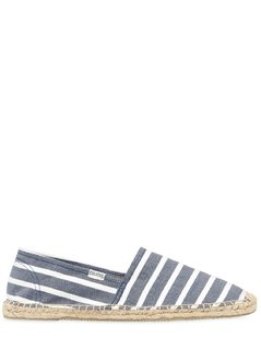 STRIPED COTTON CANVAS ESPADRILLES