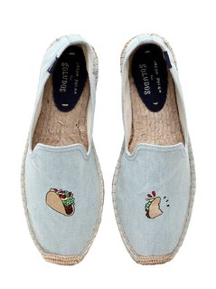 TACO EMBROIDERED COTTON ESPADRILLES