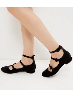 Black Triple Strap Pumps