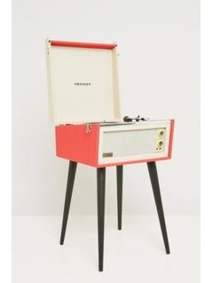 UO X Dansette Red Standing Vinyl Record Player