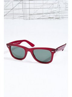 Ray-Ban Red Crystal Wayfarer Sunglasses - Womens ONE SIZE