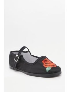 Floral Embroidered Mary Jane Shoes - Womens 40