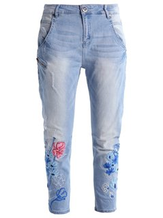 Desigual Jeansy Relaxed fit denim light wash