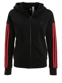 adidas Performance ESSENTIALS Bluza rozpinana black/pink