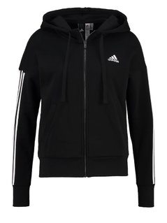 adidas Performance ESSENTIALS Bluza rozpinana black/white